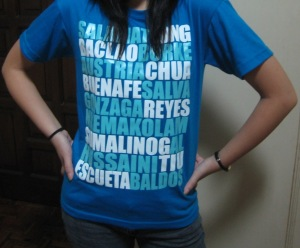 C1 using her Blue Eagles tee