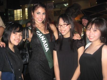 "A ""kilig"" moment posing with Ms. Canada"
