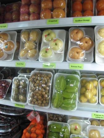 all kinds of round fruit