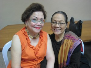 The effervescent friends: Chit Almario & Caridad Sanchez