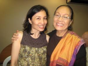with Ms. Caridad Sanchez