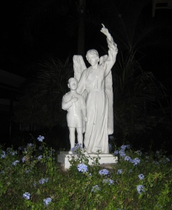 A statue in the Ateneo Grade School grounds that aptly represented Amiel