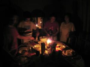 A candlelight dinner during Earth Hour