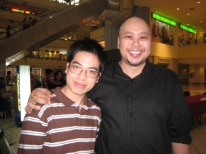 M1 with his professor/author, Vincent Simbulan
