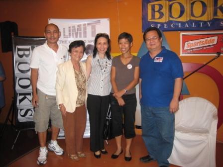 (L-R): Mat Macabe, a pulmonologist from TB Society, me, Joy Rojas, Chuck Crisanto