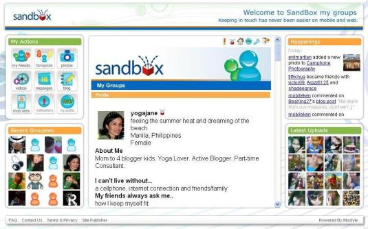 My Sandbox Profile