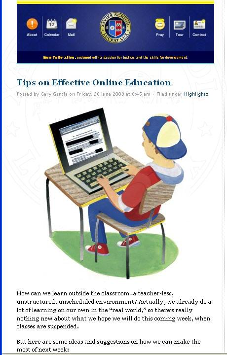 Effective online education
