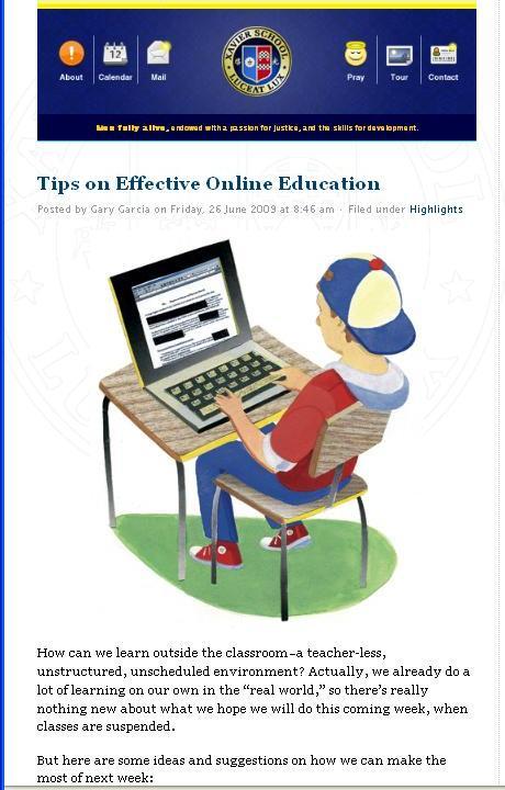 Effective online education